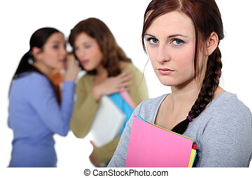 femininas, vítima, intimide