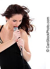 vocalista, hembra