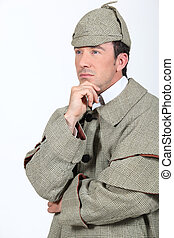 Man in Sherlock Holmes outfit