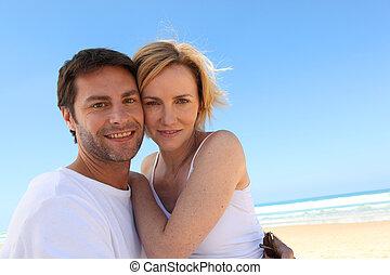 Couple on a blue sky day
