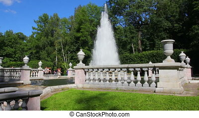 Eva fountain in petergof park St Petersburg Russia