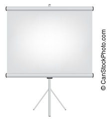 Projector screen illustration