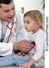 Doctor will listen to little girl