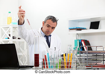 Man working in a laboratory
