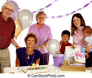 Senior Birthday Bash - Celebrating an 80 year-olds birthday...