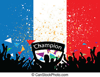 crowd cheer france