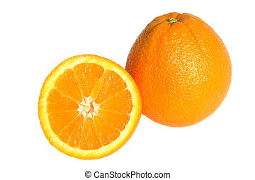 Navel Oranges - Navel oranges isolated on a white background...