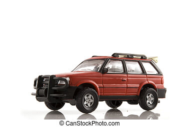 suv toy - red 4wd car as suv