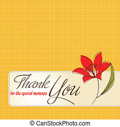 thank you greeting card with flower