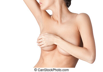 Corporal beauty - Beauty of the body, isolated, white...