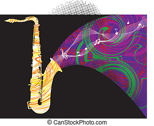 Music instrument illustration