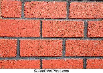 red brick wall textured close up shot