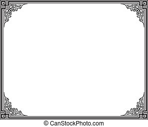 vector frame - black and white vector frame