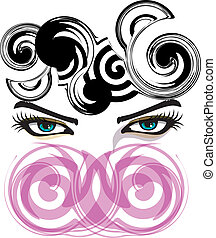 Woman eye illustration made in adobe illustrator