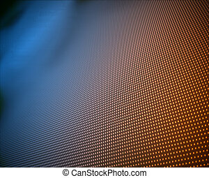 Background of multiple orange dots fading to blue