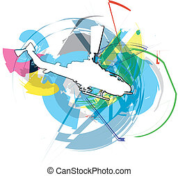 Helicopter illustration - Helicopter Vector illustration
