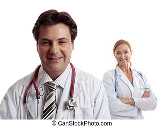 Healthcare doctors - Two confident healthcare workers...