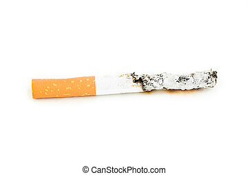 Close up of a cigarette extinguisched - Close up of a...
