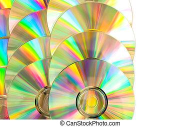 compacto, disco, arreglado
