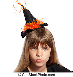 girl with witches hat