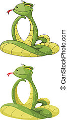 cute snake - illustration of a cute snake