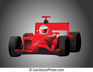 formula one racing car color vector illustration
