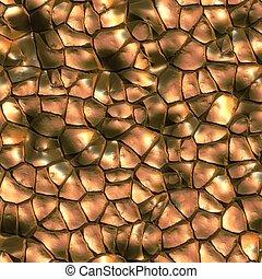 Bronze. Seamless texture.