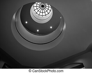 Hospital Skylight - Shot looking up through the skylight of...