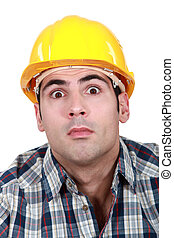 Surprised builder