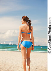 woman on the beach