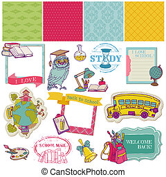 Scrapbook Design Elements - Back to School - for design and...