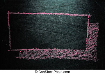 Thought bubble blackboard