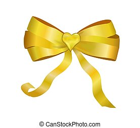 Golden Package Bow With a Heart