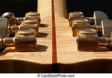 Guitar Headstock - Acoustic Guitar Headstock and Tuning Pegs