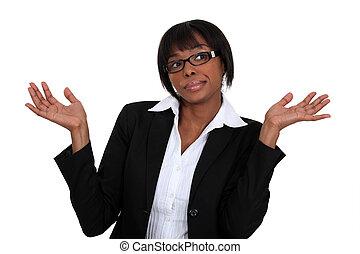 Clueless businesswoman