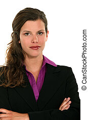Businesswoman stood with arms folded