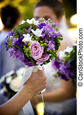 Wedding bouquet flower arrangement - A pretty flower...