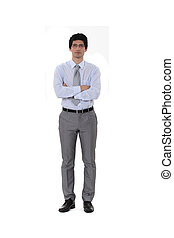 Businessman standing with his arms folded