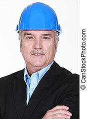 A portrait of an architect