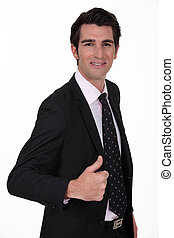 businessman thumb up