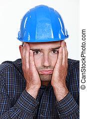Worker under pressure