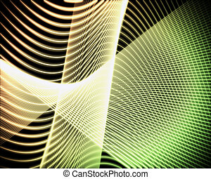 Volute of green and yellow lines - Background of volute of...