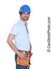 craftsman wearing a tool belt