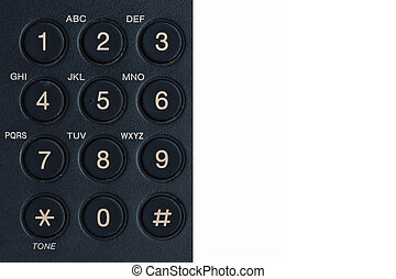 phone keypad - black phone keypad close-up