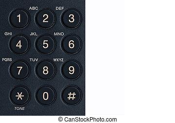 phone keypad - black phone keypad close-up