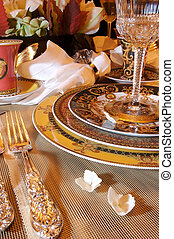 Formal Dining room place setting - an image of a Formal...