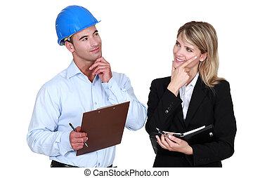arquitecto, constructor, pensamiento, sobre, mismo, cosa