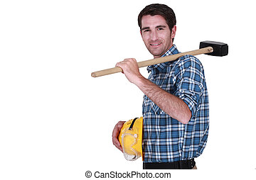Craftsman with a sledgehammer.