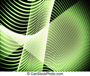 Volute of green lines - Background of volute of green lines