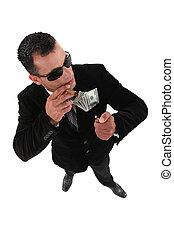 Questionable businessman